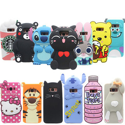 For Samsung Galaxy s8 S8Plus Cartoon Cute Animal Silicone Gel Various Phone Case