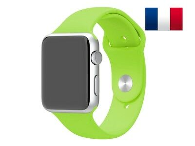 Bracelet sport silicone vert pour Apple Watch version 38mm