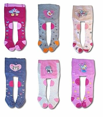 Baby Girl Crawling Cotton Tights ABS Sole Rubberized Non Slip Knees Terry Insole