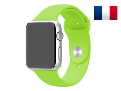 Bracelet sport silicone vert pour Apple Watch version 42mm
