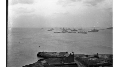 Photographic Glass Negative Warship Off Firth Of Forth  Ww1 Royal Navy Superb