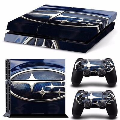PS4 playstation console skins set SUBARU AUTOMOBILE IMPREZA RACING AUSSIE SELLER