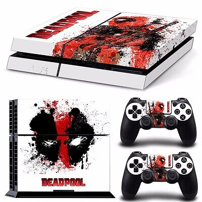 PS4 playstation console controller skin set   DEADPOOL MARVEL  Aussie seller