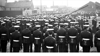 Photographic Glass Negative Royal Navy Marines & Sailors Firth Of Forth Ww1