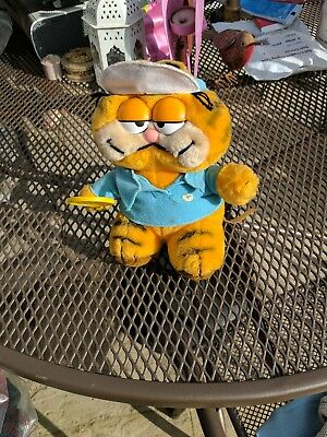 Vintage Garfield the Cat Soft Toy Circa 1980 cuddly toy comic toy Tennis