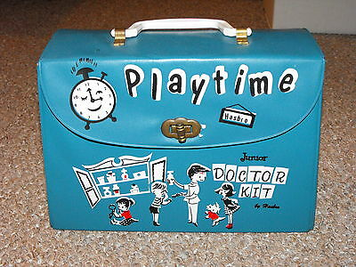 Vintage 1960s Canadian Hasbro Junior Doctor Kit with Some Accessories