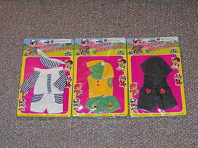 Vintage HP Toys Lot of 3 Chimp Boutique Outfits for Monchhichi Dolls Brand New