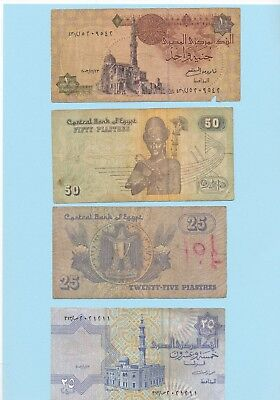 Lot Egypt Banknotes very circulated