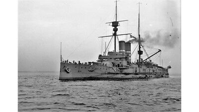 Photographic Glass Negative Navy Capital Warship At Dock Firth Of Forth  Ww1