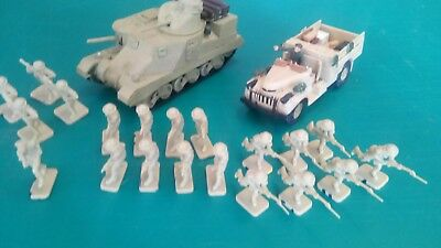 1:72 British 8Th Army 20 Figures + Vehicles