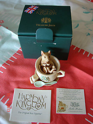 Harmony Kingdom - BELLE HELENE - MOUSE IN TEACUP - SPECIAL PRICE - NIB