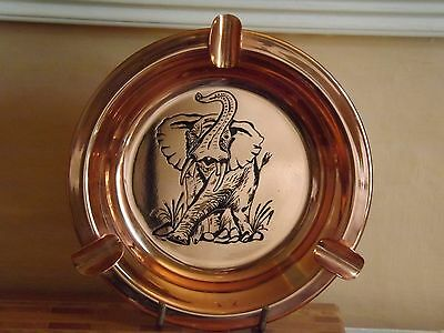 Rhodesia COPPER ASHTRAY (Elephant) Old Labell
