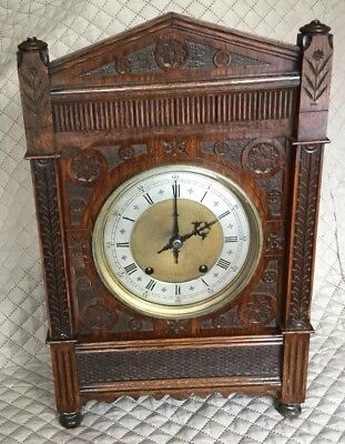 LARGE  W & H  TING TANG BRACKET CLOCK, Nicely carved