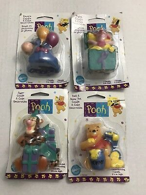 Disney Winnie The Pooh Candle And Cake Decoration Lot Of 4 Pooh Piglet Tigger