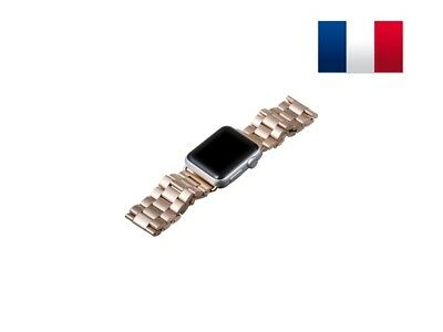 Bracelet en acier inoxydable pour Apple Watch version 38mm - Or Rose
