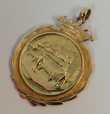 Heavy 1912 9ct Rose Gold Mens Snooker Watch Fob or Medal D1393