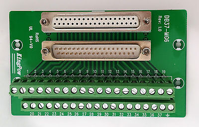 DB37 DSUB 37pin Male/Female Adapter Breakout Board Connector (D12)