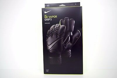NIKE GK VAPOR GRIP 3 GOALKEEPERS GLOVES BLACK size 8 BNWT GS0327-011