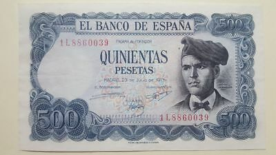 Billete 500 pesetas 1971