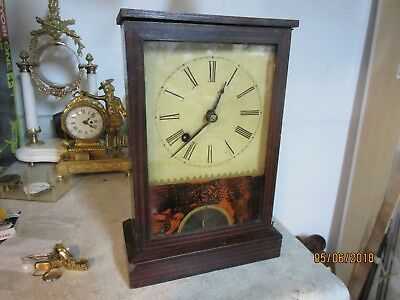 Henry Sperry Cottage Clock Original, Upside Down Movement