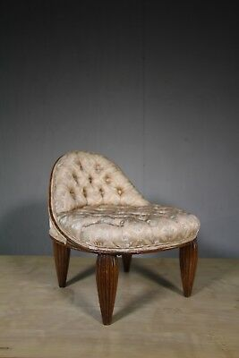English Antique Upholstered Low Side Chair.
