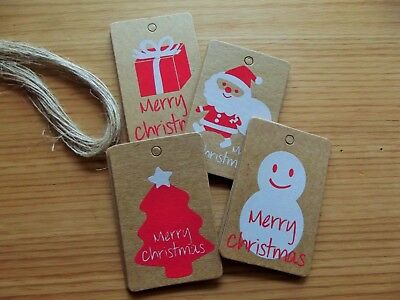 CLEARANCE! 40 Packs of 20 Christmas String Tags