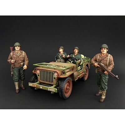 1/18 Scale figure- WWII US Army Soldiers - Set of all 4 - AMERICAN DIORAMA