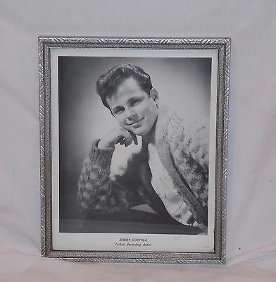 "Bobby Curtola Original Autographed B/W 8"" x 10"" Framed Photograph for Fan!"