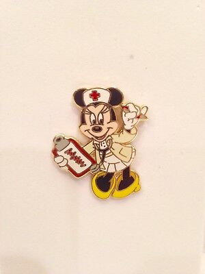 WDW Nurse Minnie with Clipboard Disney Pin WITH RED CROSS EMBLEM ON HAT