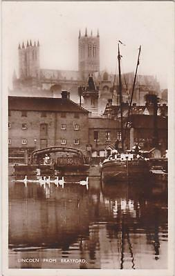 Rp  Lincoln From Brayford Lincolnshire Real Photo C 1912