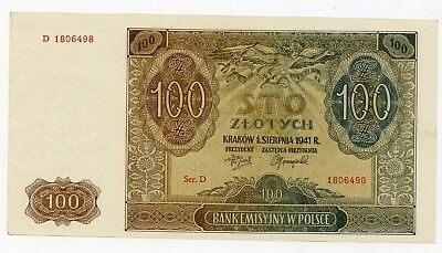 Poland 1941 - 100 Zlotych Banknote - *uncirculated*