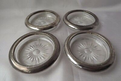silver plated coasters glass italy