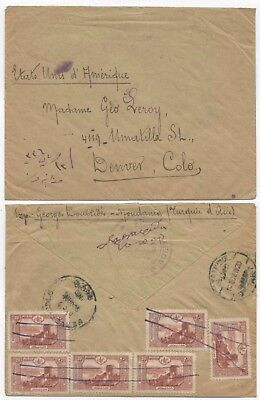 Turkey 1920 Cover From Moudania / Greece To The Usa