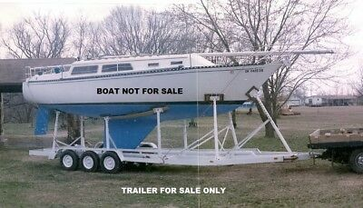 SAILBOAT TRAILER, THREE AXLE, for 30 Ft Sail Boat