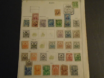 Fantastic Haiti Collection On Album Pages Very Old Mh/used Stamps