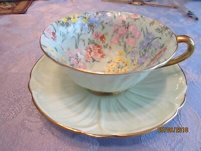 Shelley Oleander Footed Cup And Saucer