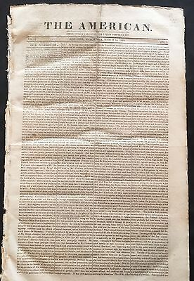 1819 newspaper SLAVE TRADE ACT US 2 Fight Slavery Ships AFRICAN SQUADRON Created