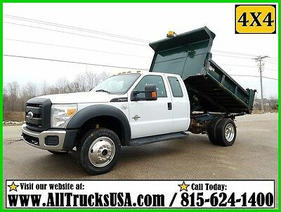 2011 Ford F550 4X4 Extended Cab 6.7 Powerstroke Diesel, 9' Dump Bed Truck 4Wd