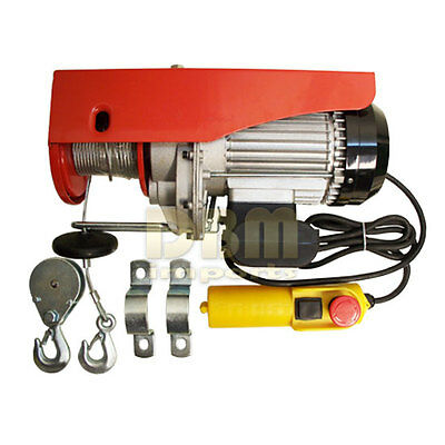 450 LB / 900 LB  Electric Wire Rope Cable Hoist Lift  Pulley 980 W FREE SHIPPING