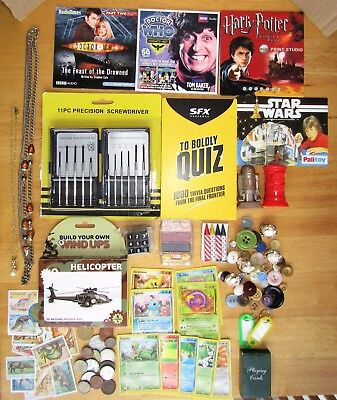 JUNK DRAWER JOB LOT CURIOS CLEAR OUT BOOT SALE POKEMON ITEMS 99p start  (Lot 1)