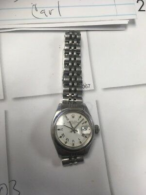Rolex stainless steel womans Oyster date watch