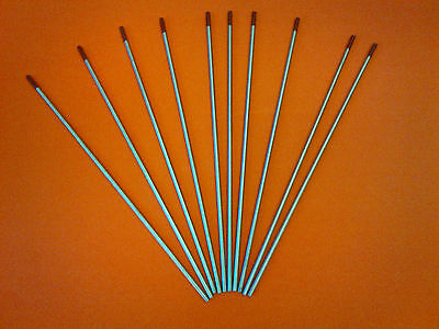 10 Pack 2% Red Thoriated Tig Tungsten Electrode