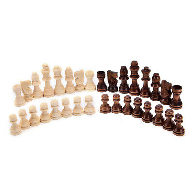 Set chessmen chess vintage wooden pieces Complete Chessmen Without Chessboard