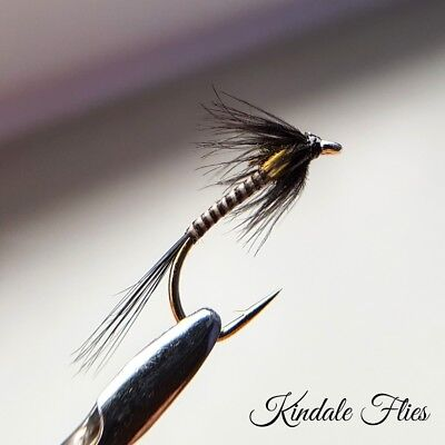 Holo Claret Cruncher size 16 Set of 3 Fly Fishing Flies Trout buzzers