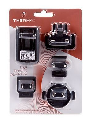 Therm-ic Mains Charger with UK, EU, US Adaptors