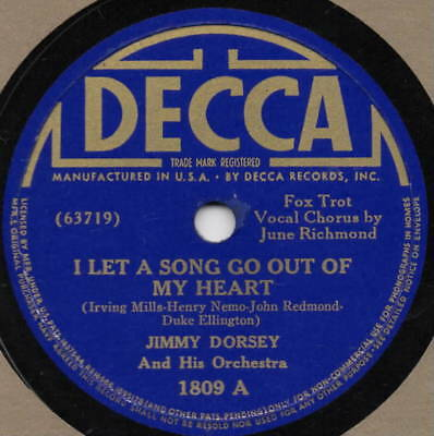 "78er Jazz Swing Jimmy Dorsey Orchestra ""I Let A Song Go Out Of My Heart"""