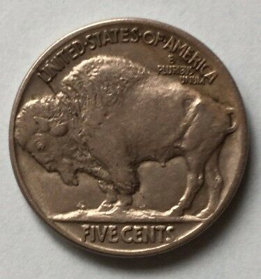 USA 1917 FIVE CENTS (5¢) Indian Head/Buffalo Nickel Coin Fine condition