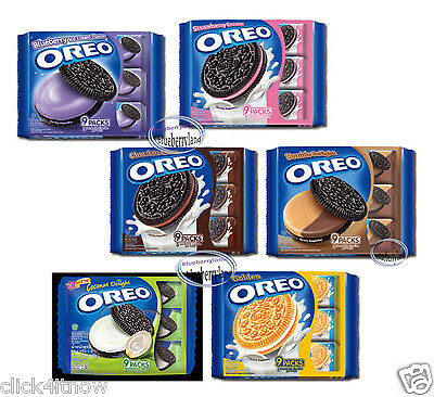 Oreo Sandwich cookies Biscuit blueberry strawberry coco snacks kids family packs