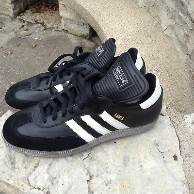 "Vintage 1995 Adidas ""samba"" Soccer Shoes Made In Taiwan Old Stock Size 10 Us"
