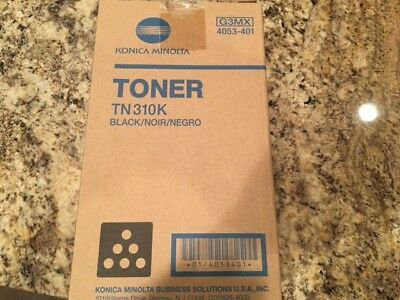 Genuine Konica Minolta TN 310 K Black Toner 4053-401 New NIB